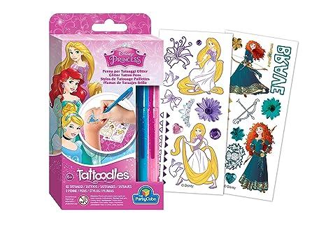 Siad Set 92 Tatuaggi Principesse Disney Da Colorare Multicolore