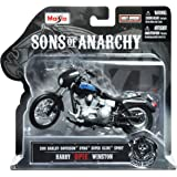 """Maisto 1:18 Scale Sons of Anarchy 2001 HD Dyna Superglide Sport Harry """"Opie"""" Winston Diecast Motorcycle"""