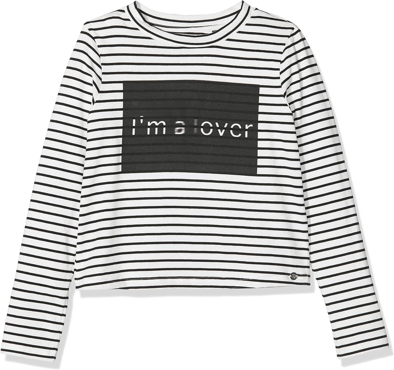 IKKS Junior tee Shirt Ml Mariniere Im A Lover Camiseta para Ni/ñas