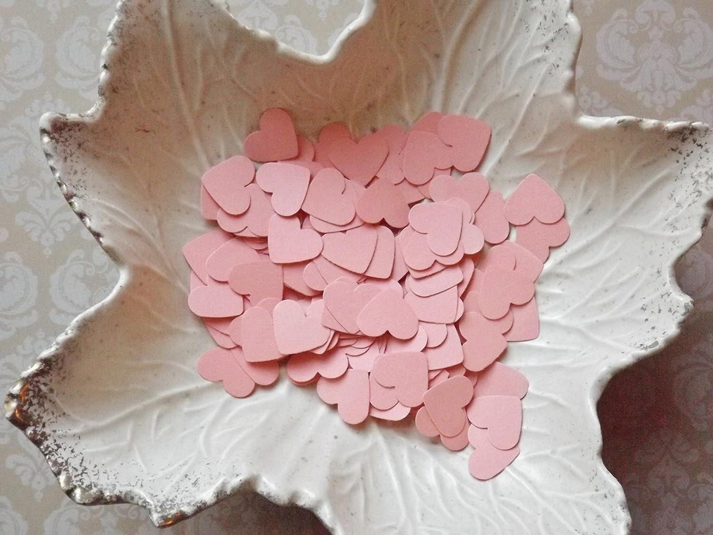 Birthdays Showers Peach Paper Heart Confetti-500 Pieces-Weddings