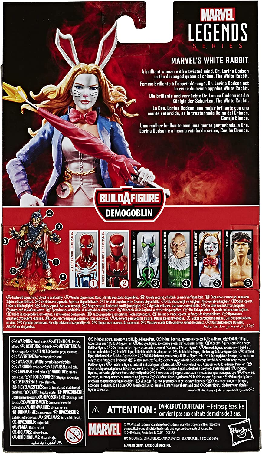 """WHITE RABBIT Marvel Legends 2020 SPIDER-MAN Out Of Package 6/"""" inch FIGURE"""