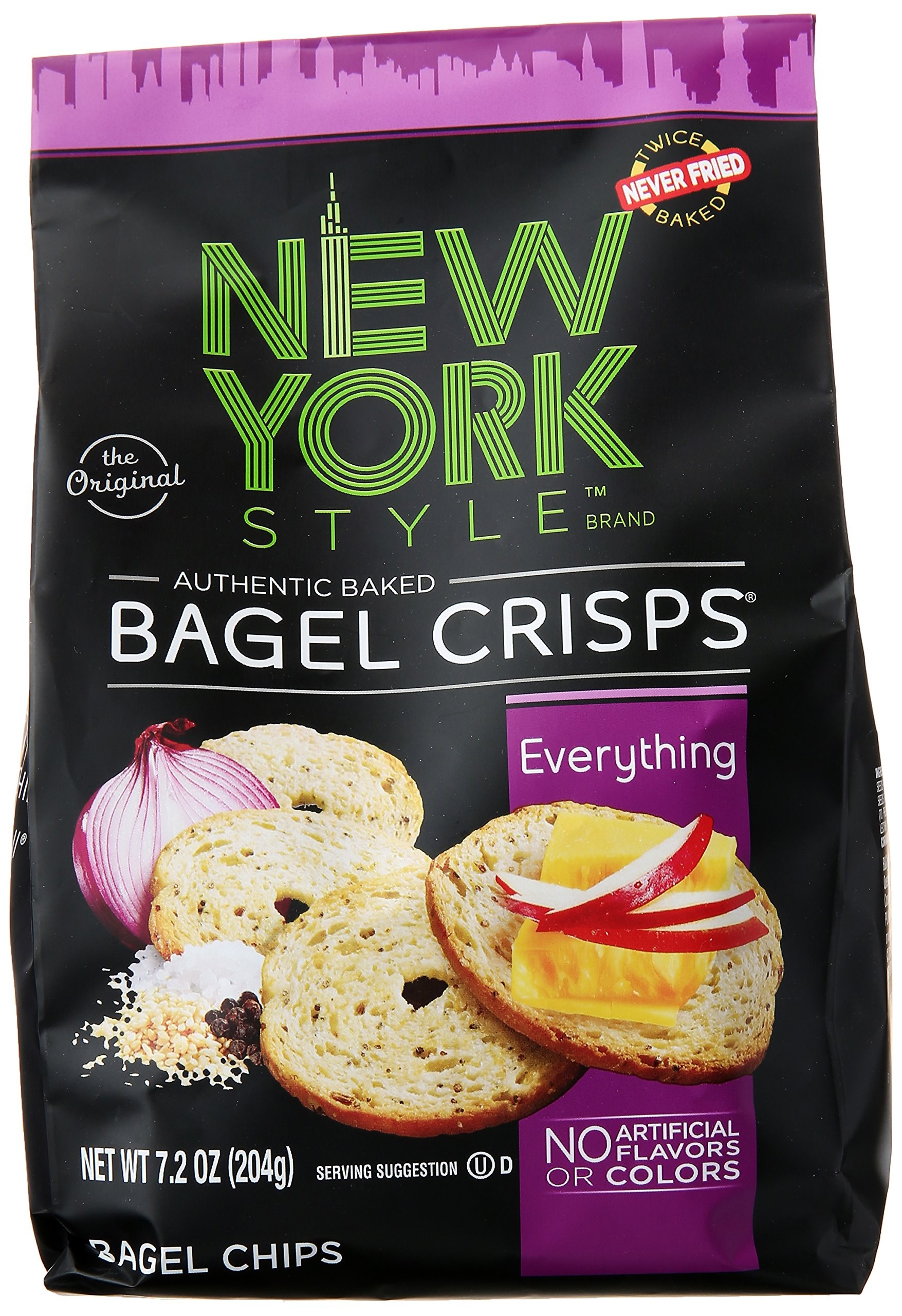 New York Style Bagel Crisps, Everything, 7.2 oz by New York Style