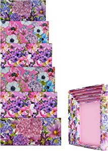ALEF Elegant Watercolor Decorative Themed Extra Large Nesting Gift Boxes -6 Boxes- Nesting Boxes Beautifully Themed and Decorated - Perfect for Gifts or Simple Decoration Around The House!