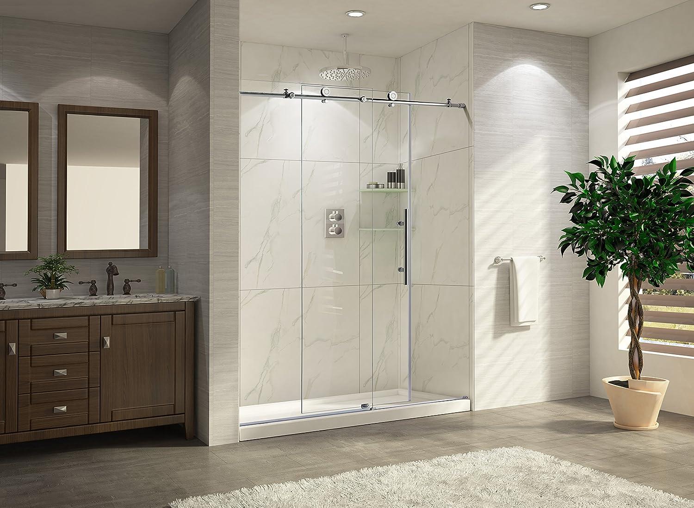 Paragon baño crsbs0348-chr sin marco deslizante para mampara de ducha, 48
