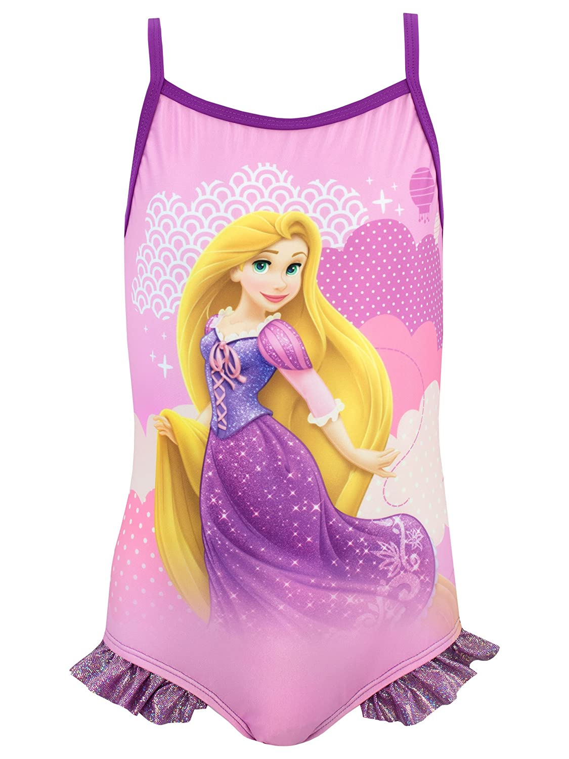 Disney Girls Tangled Swimsuit Ages 12 Months to 8 Years