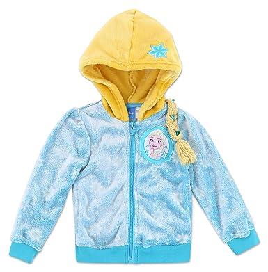 87ec350920228 Amazon.com: Toddler Girl Disney Frozen Elsa Hooded Fleece Jacket: Clothing