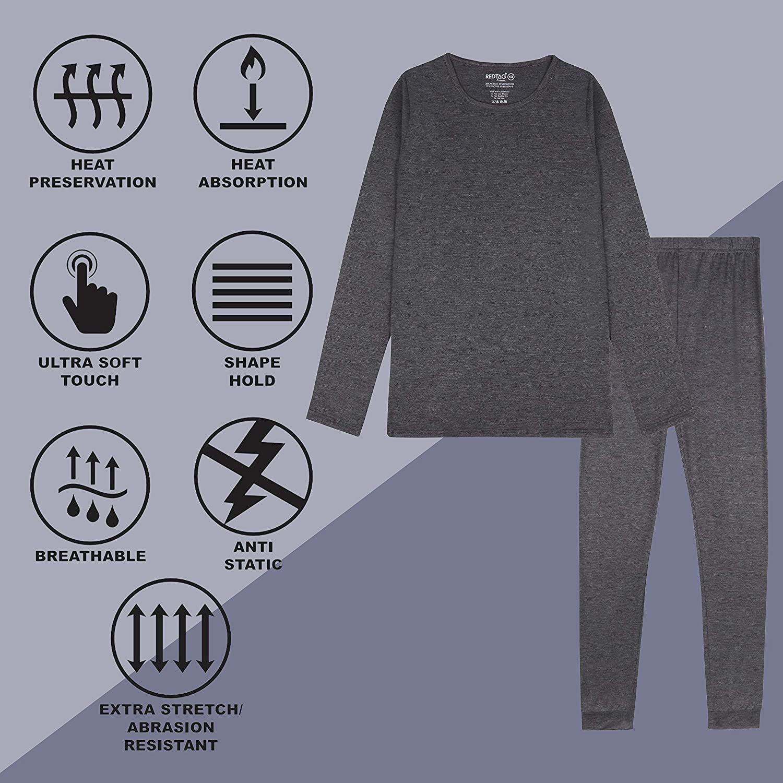 Metzuyan Boys /& Girls Warm Full-Length Thermal Leggings
