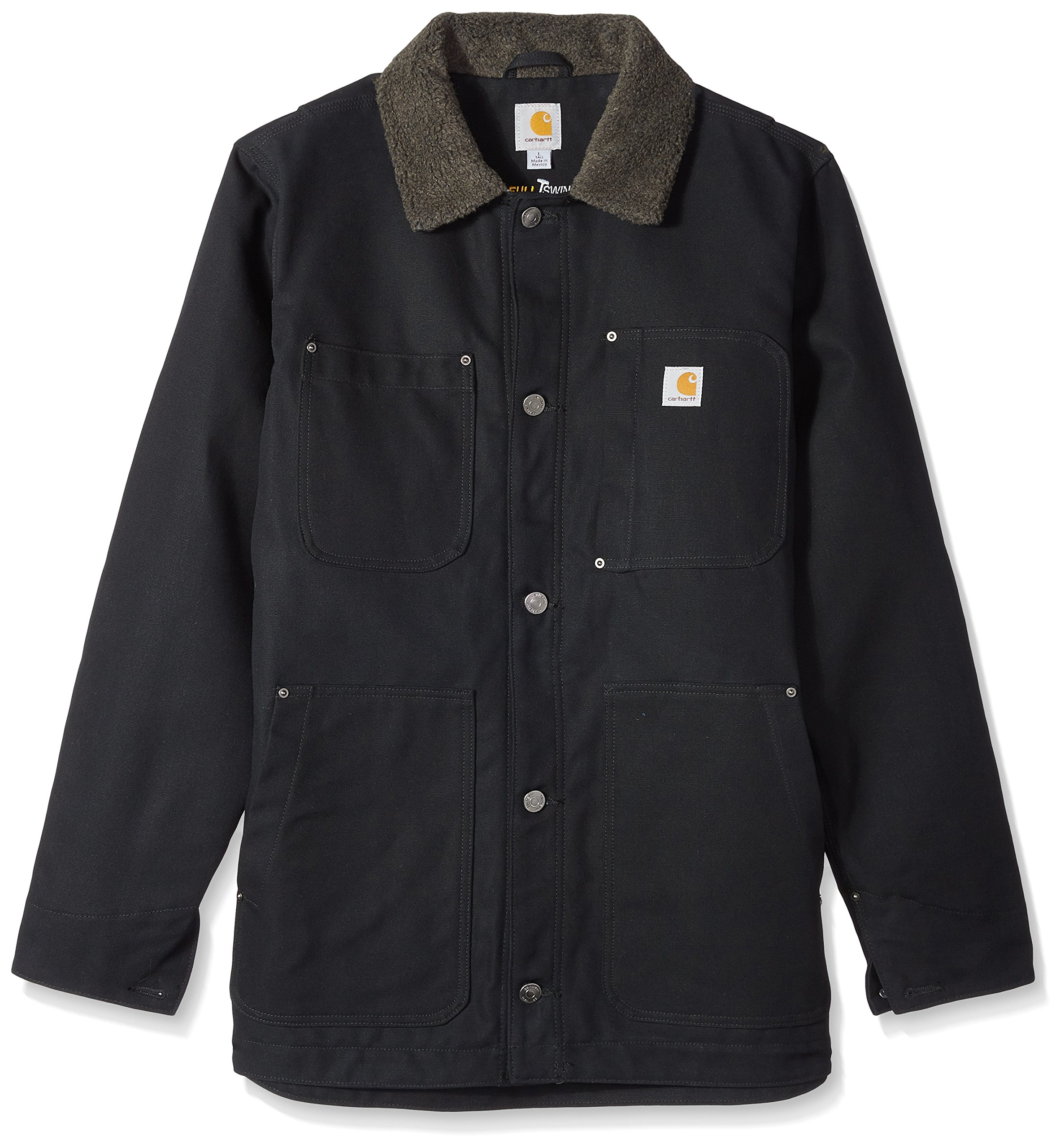 Carhartt Men's Big Full Swing Chore Coat, Black, 2X-Large/Tall