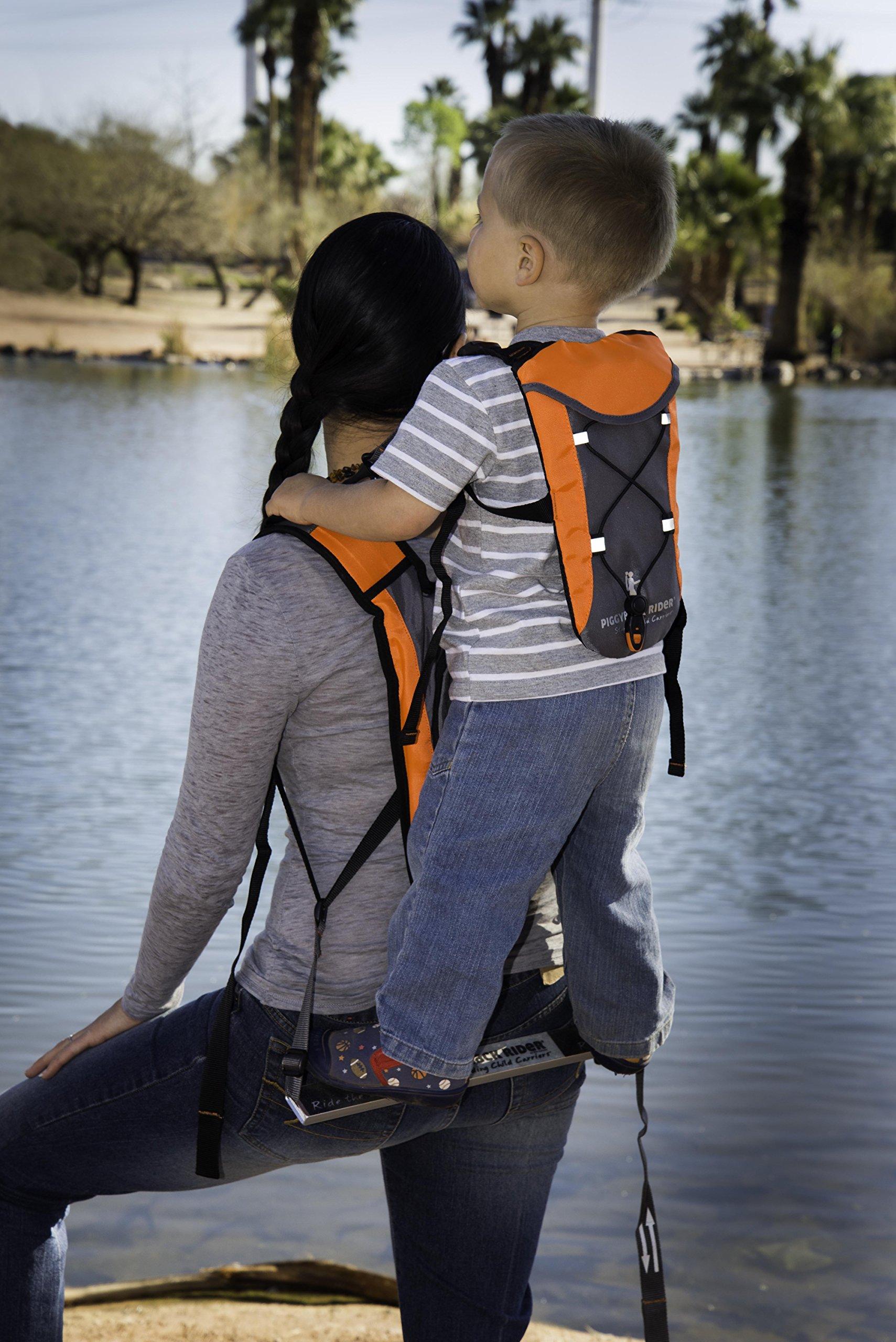 Piggyback Rider Child Safety Harness Backpack - Orange