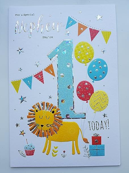 Geburtstagskarte Fur Neffen Zum 1 Geburtstag Amazon De Kuche