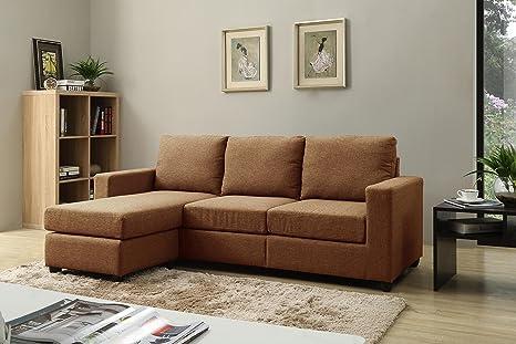 Amazon.com: NHI Express Alexandra Convertible sofá seccional ...