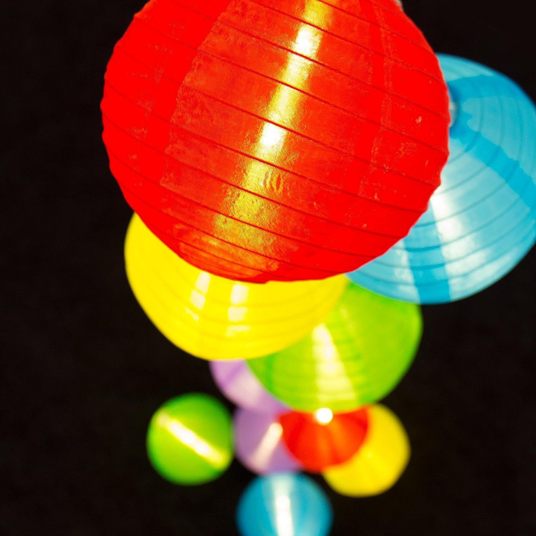 Terrasse Plaights Lampion Lichterkette mit 15 LED/'s in warmwei/ß Balkon Party und Feiern Sommerlichterkette XXL f/ür drau/ßen perfekte Dekoration f/ür Garten