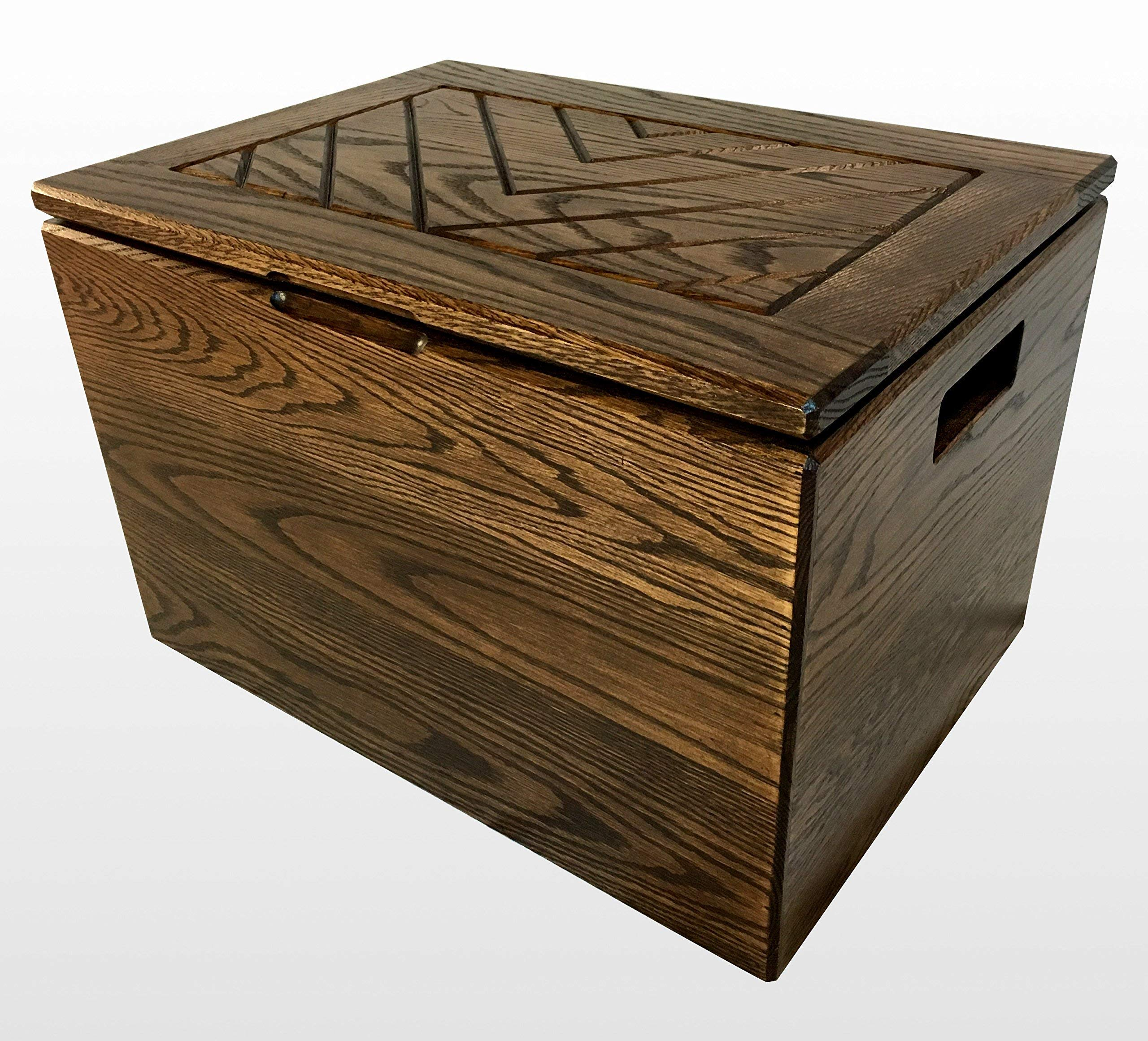 Wood Chest by CW Furniture in Espresso Toy Box Kids Engraved Personalized Hope Memory Treasure Shoe Blanket Solid Hardwood Handles Safety Hinge Oak by Candlewood Furniture
