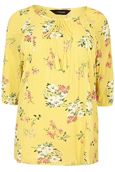 410d990db2218 Yours Clothing Women s Plus Size Floral Gypsy Top  Amazon.co.uk ...