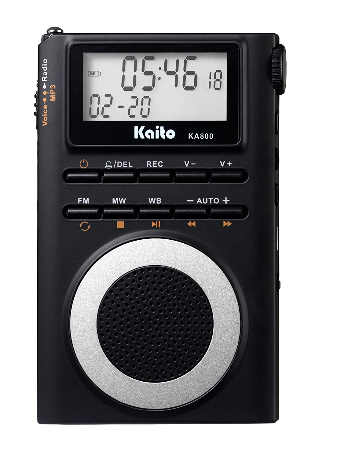 Amazon.com: Kaito KA800 Pocket-size AM/FM NOAA Weather DSP Radio with  Built-in 2GB MP3 Player: Electronics