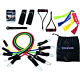 16 PCS - Pro-Series Resistance Band Set - THE MOST COMPLETE IN THE MARKET - Made with the Highest Quality Materials. It comes with everything you need to Workout at Home or when Traveling - Guaranteed