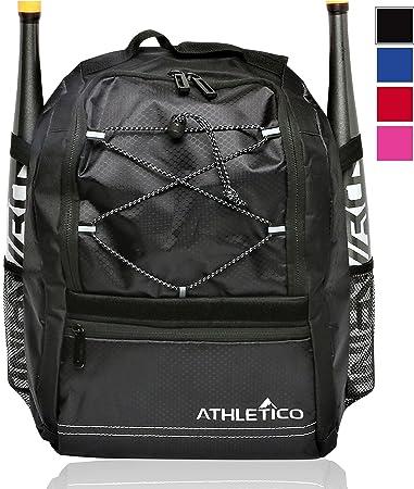 23a8e21ec8c03 Athletico Youth Baseball Bag - Bat Backpack for Baseball, T-Ball & Softball  Equipment & Gear | Holds Bat, Helmet, Glove | Fence Hook