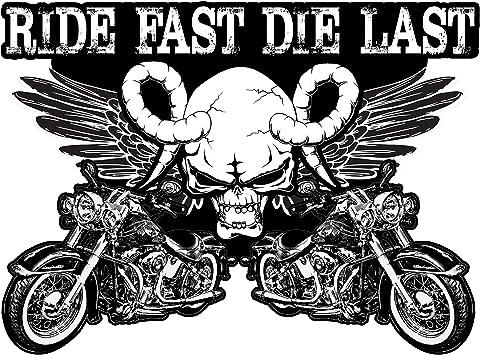 20 Pegatinas para Motocicleta 100% Vinilo Pegatinas para Adultos Pegatinas para Motocicleta Badass incluyendo calaveras, bandera americana