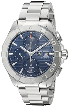 46dc9278ea3d4 Image Unavailable. Image not available for. Color  TAG Heuer Men s   Aquaracer  Swiss Automatic Stainless Steel Dress Watch ...