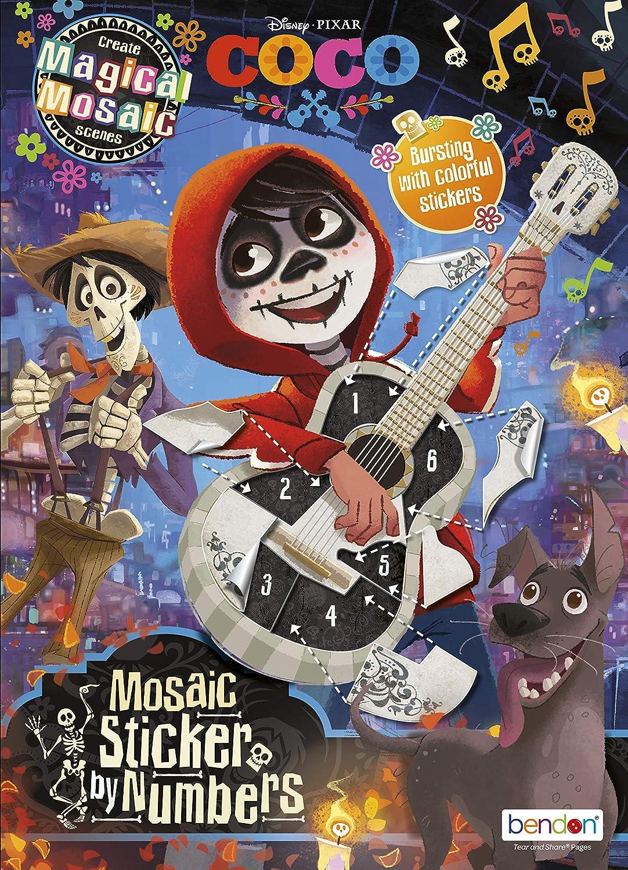 Disney Bendon 44626 Coco Mosaic Sticker Book Multicolor