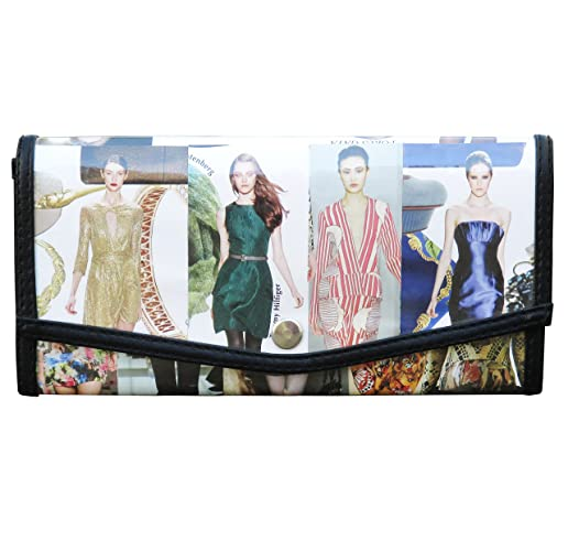 Amazon com: Small snap wallet made from fashion magazine