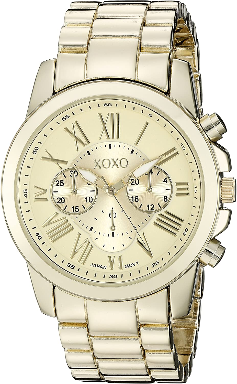 XOXO Women s XO228 Gold-Tone Bracelet Watch