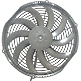 SPAL 30100384 12 Low-Profile Fan 12V 861 cfm Pusher Straight Blades