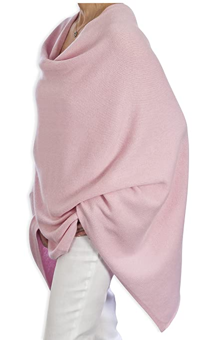 40f5dfdfd Pure Cashmere Poncho - 060 Warm Pink by Catherine Robinson: Amazon.co.uk:  Clothing