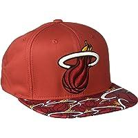 NBA Miami Heat de los hombres cola Sweep-plana ala Snapback Sombrero, Talla única, color rojo
