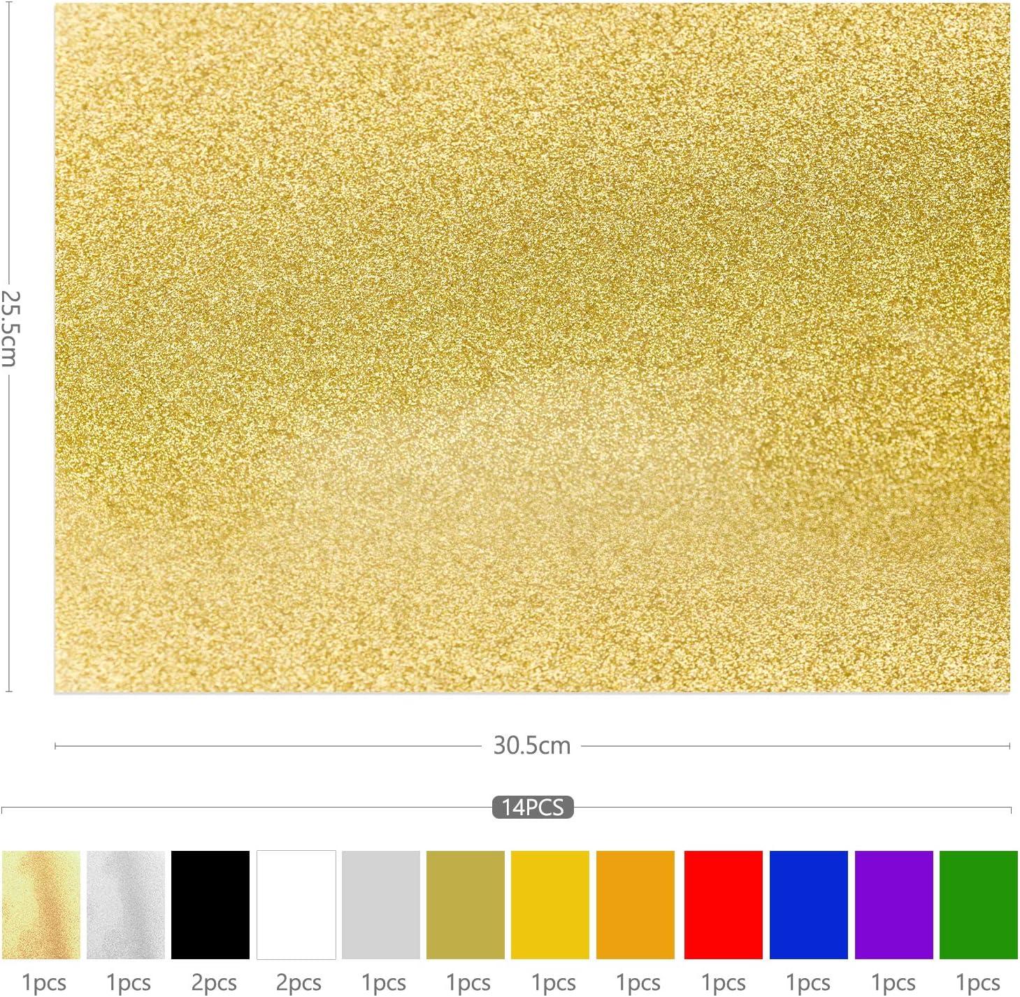 pour DIY V/êtement Chapeau Chaussure Fille Gar/çon Feuilles De Vinyle Silhouettes Portraits 25.5x30.5cm Zaleonline 14 Pi/èces Vinyle de Transfert De Chaleur