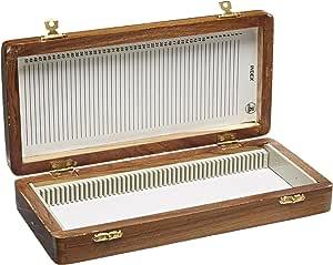 United Scientific WSB050 Wooden Slide Storage Box, Holds 50 Slides