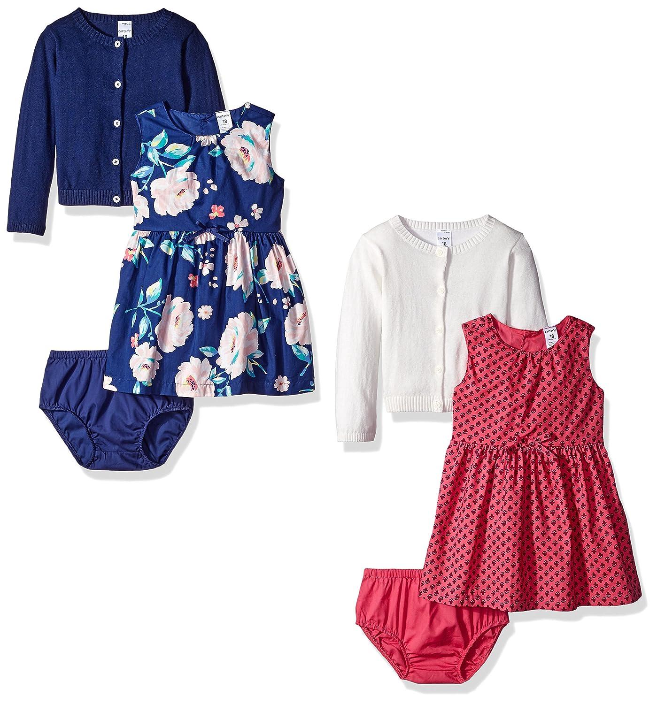 Carters Girls 6-Piece Cardigan and Dress Set