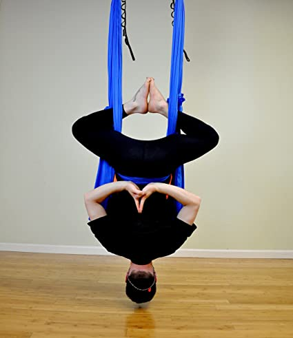 Deluxe Aerial Yoga Hammock (Yoga Swing Aerial Yoga) (Superman Blue)