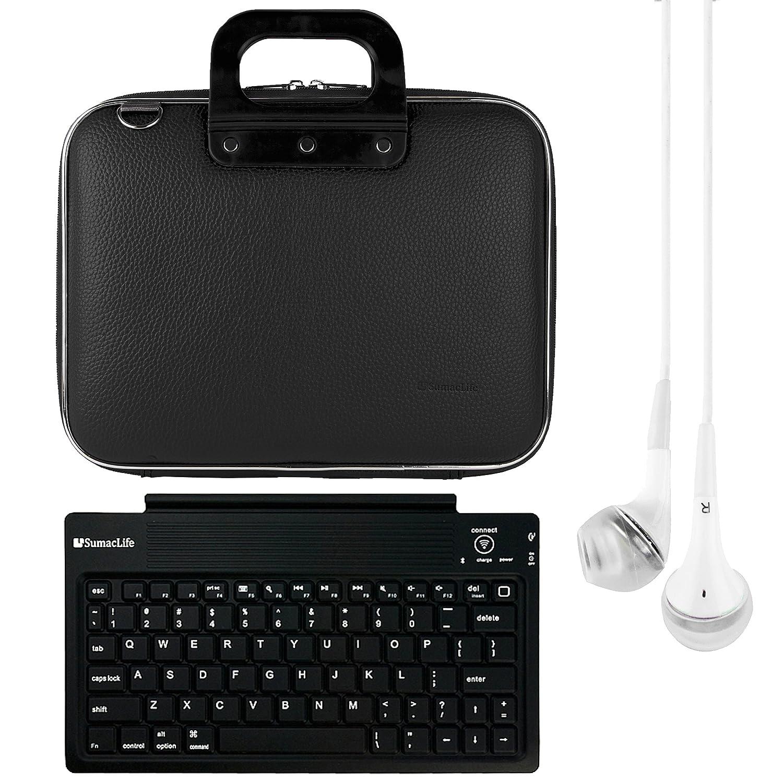 SumacLife 10.1インチタブレットメッセンジャーバッグfor Asus Transformer Pad withホワイトヘッドフォン(ブラック)   B019HW0VK0