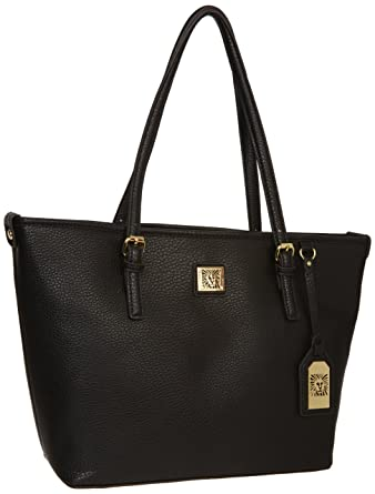 Anne Klein Perfect Tote Medium Tote, Black, One Size: Handbags ...