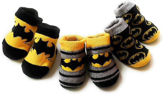 DC Comics Batman Baby Booties Set, 3
