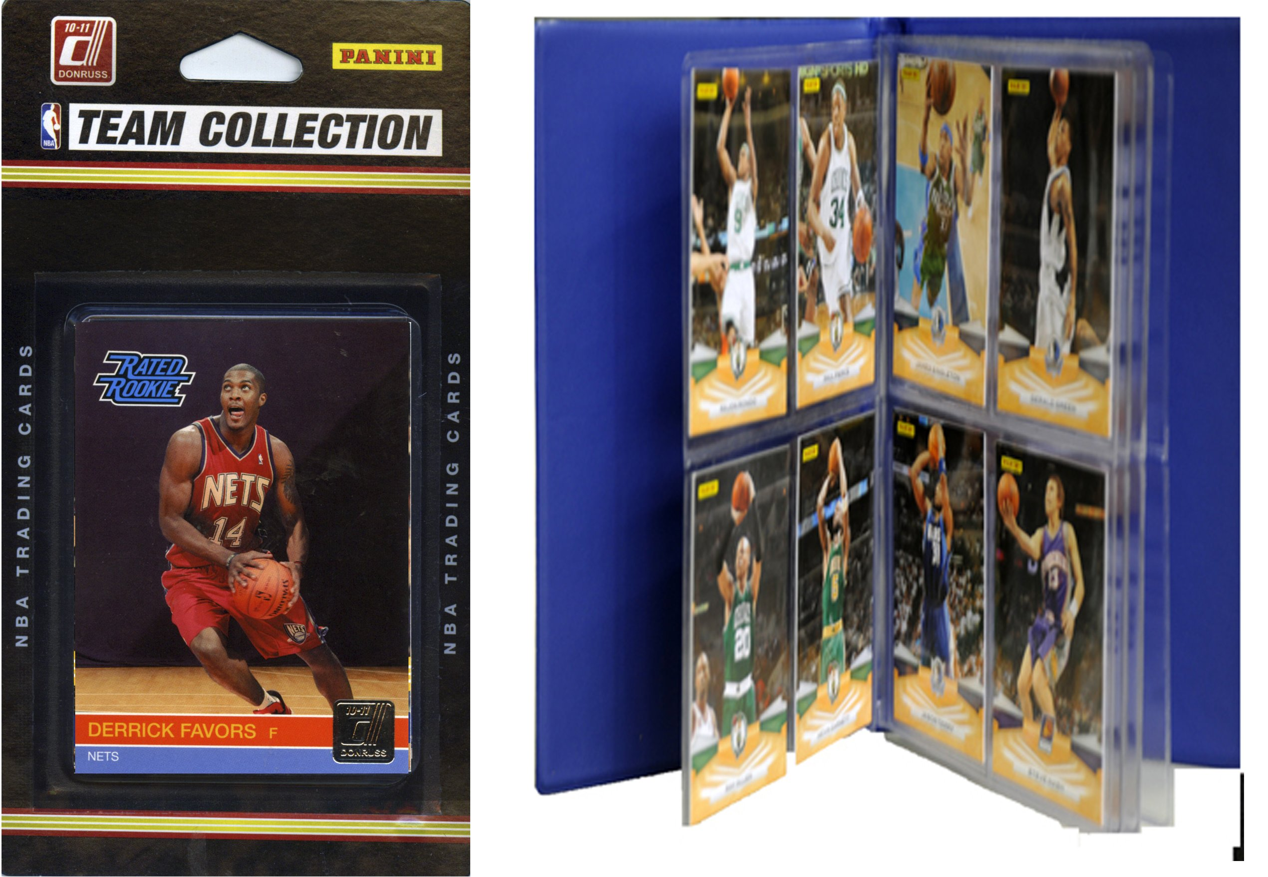 NBA New Jersey Nets Licensed 2010-11 Donruss Team Set Plus Storage Album