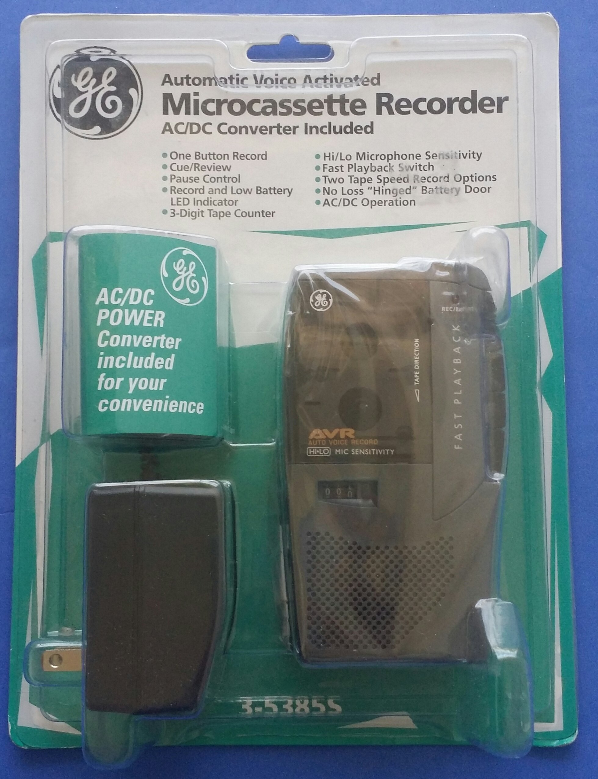 Ge 3-5385s Automatic Voice Activated Microcassette Recorder