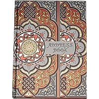 Nightingale Premium Artcover Address Book - D Design, Executive, 240 Pages