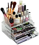 GlamBox Crystal Clear MakeUp Organiser - Helps You Look A Million Dollars And Saves You Money Too!. Order now and receive a free limited edition foundation brush worth £9.99!