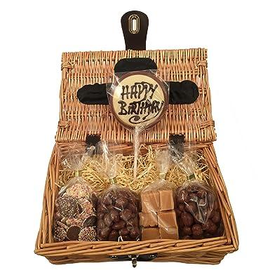 Happy Birthday Chocolate Fudge Hamper Gift Basket