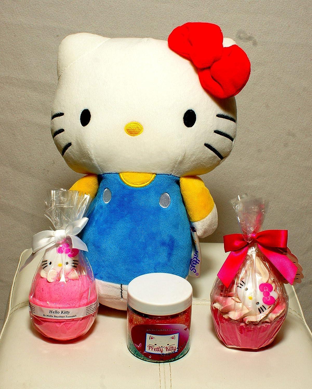 Hello Pretty Kitty Collection || Bath Bombs || Sugar Scrubs || FREE HELLO KITTY DOLL