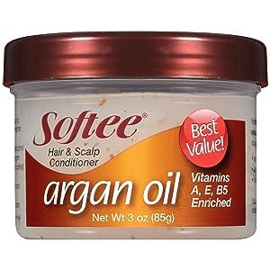 Softee Hair and Scalp Conditioner Argan Oil, 3 Ounce