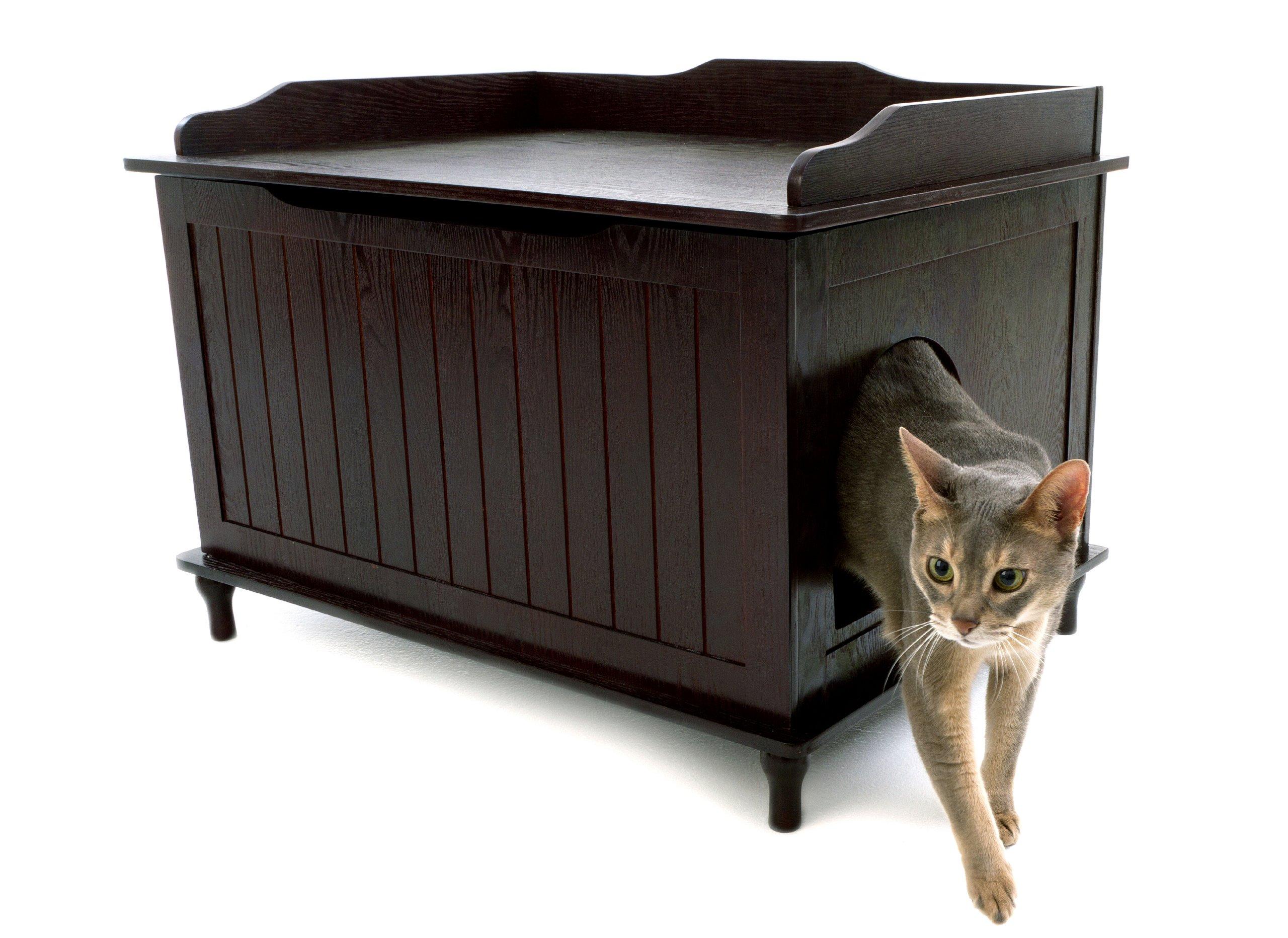 Designer Catbox Litter Box Enclosure in Espresso by Designer Catbox