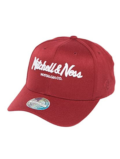 finest selection 8ff04 cbb98 Mitchell   Ness Men Caps Snapback Cap The Burgundy 2-Tone Pinscript 110 red  Adjustable  Amazon.co.uk  Clothing