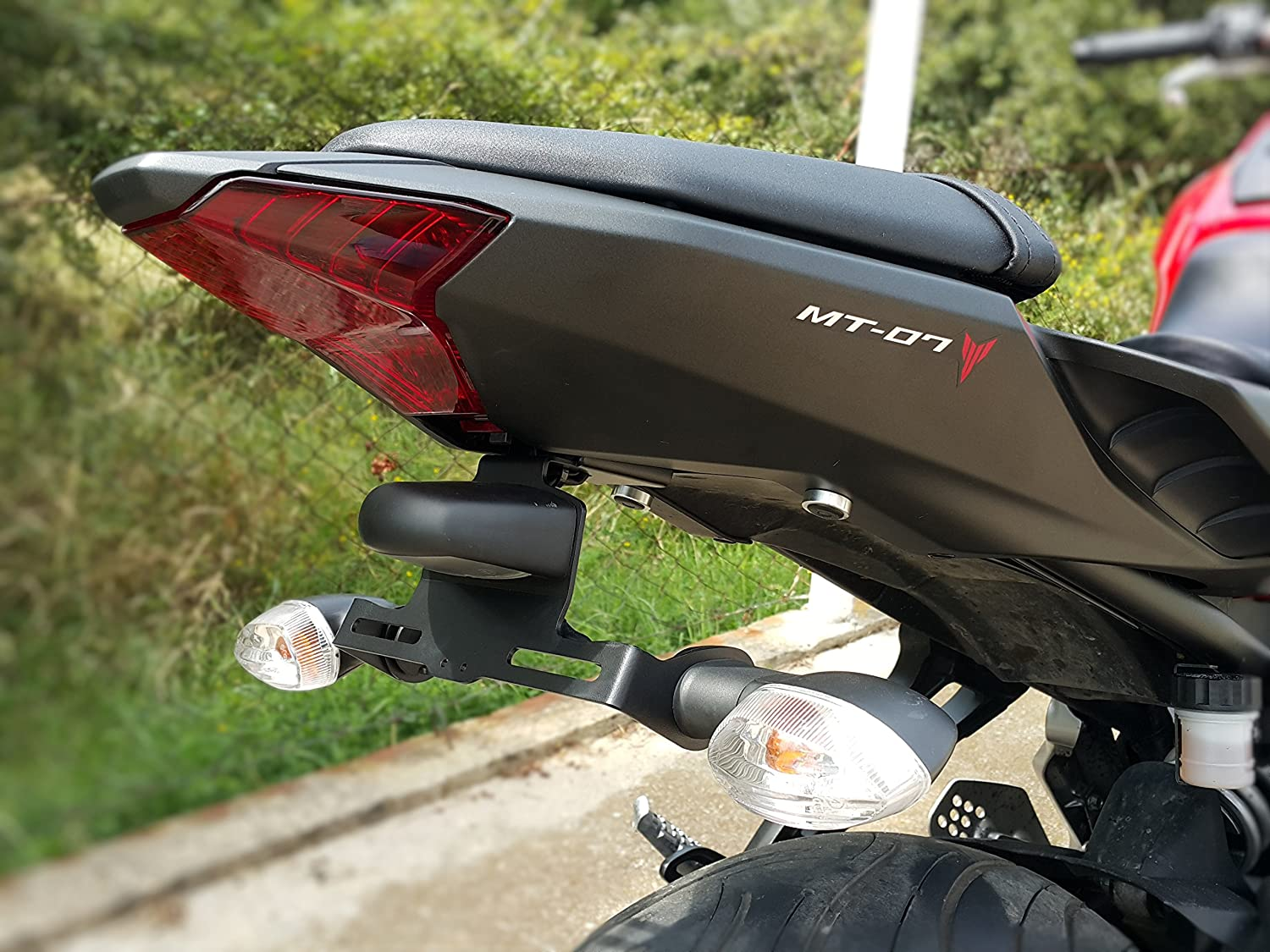 Top quality Motorcycle Tail Tidy License Plate Holder For YAMAHA MT 07 MT07 MT-07 FZ07 FZ-07 2013-2017 2018 2019 Accessories Motorcycle Accessories Color : 1 LOGO