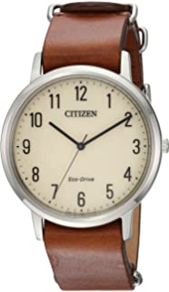b0d6d0cfd Citizen Men's 'Eco-Drive' Quartz Stainless Steel and Leather Casual Watch,  Color