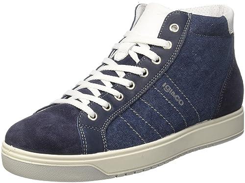 USV 11253, Zapatillas Altas para Hombre, Azul (Jeans 00), 44 EU Igi & Co