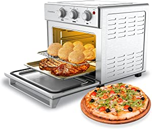 CIARRA CATOSMC01 6-IN-1 Oven, Smart Air Fryer Oven, Convection Toaster Oven Combo, Large Capacity Countertop Oven with 24L / 25QT, Versatile Oven for Chicken, Pizza & Cookies, 1700W, Stainless Steel