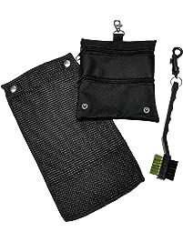 CaddyDaddy Golf Golf Accessory Bag, Towel & Brush Set